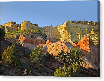 Scenic Drive Canvas Print - Dine' Tah ' Among The People ' Scenic Road by Christine Till