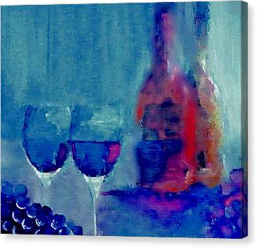 Dine With Wine Canvas Print by Lisa Kaiser