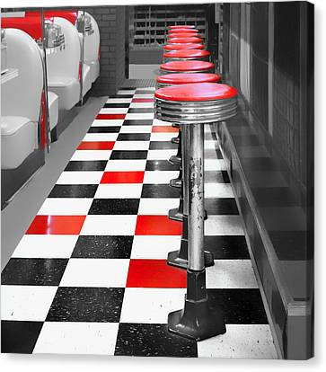 Diner - 1 Canvas Print by Nikolyn McDonald