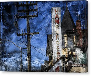 Diner 4a Canvas Print by Andrew Fare