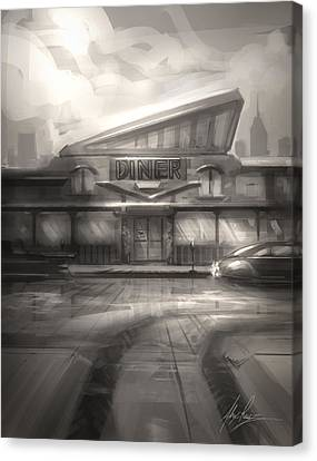 Diner Canvas Print by Alex Ruiz