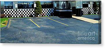 Diner At The Asphalt Headwaters Canvas Print by MJ Olsen