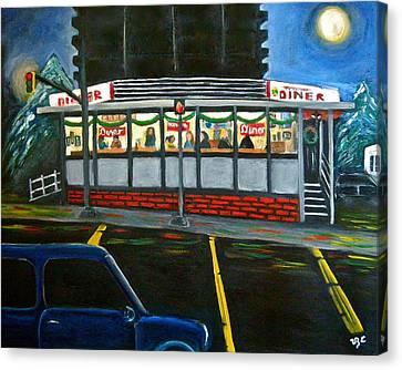 Diner In Arlington Canvas Print