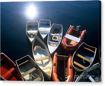 Dinghies And Rowboats - Maine Canvas Print by David Perry Lawrence