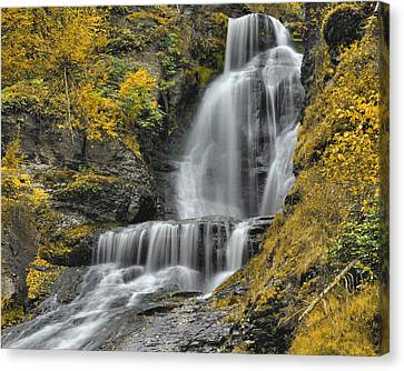Dingmans Falls In Autumn Canvas Print