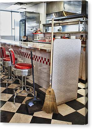 Dingy Diner Canvas Print by Trever Miller