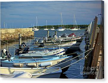Dingy's Of Mattapoisett  Canvas Print by Amazing Jules