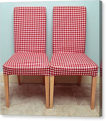 Dining Chairs Canvas Print by Tom Gowanlock