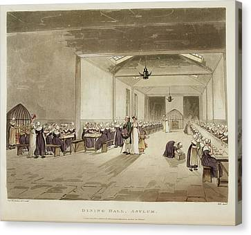 Psychiatric Canvas Print - Dining Hall by British Library