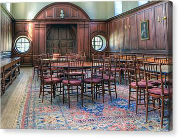 Canvas Print featuring the photograph Dining Hall Wren Building by Jerry Gammon