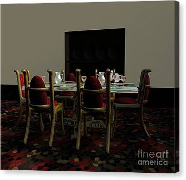 Dining Room Canvas Print