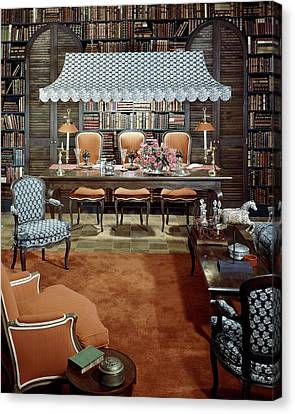 Dining Room Which Doubles As A Study Canvas Print by Wiliam Grigsby