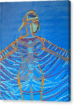 Dinka Dance Canvas Print - Dinka Corset by Gloria Ssali
