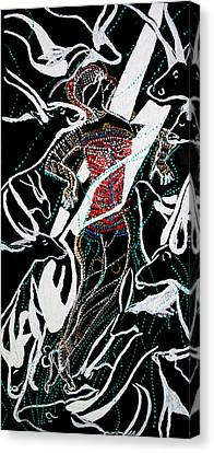 Dinka Dance Canvas Print - Dinka Dance by Gloria Ssali