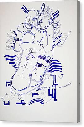 Dinka Embrace - South Sudan Canvas Print by Gloria Ssali