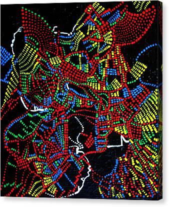 Dinka Joy Three - South Sudan Canvas Print by Gloria Ssali