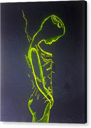 Dinka Dance Canvas Print - Dinka Painted Lady by Gloria Ssali