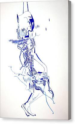 Dinka Totem - South Sudan Canvas Print by Gloria Ssali