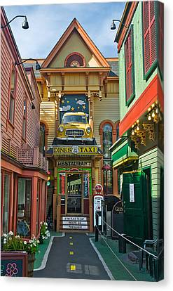 Dinks Taxi In Bar Harbor Canvas Print