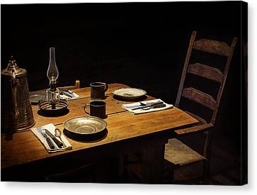 Dinner Awaits Canvas Print by Priscilla Burgers