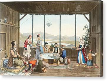 Dinner Held At Delphi In Honour Canvas Print