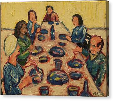 Dinner Party Canvas Print by Clarence Major