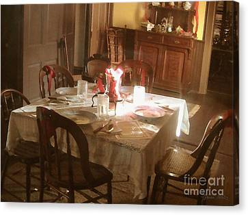 Canvas Print featuring the photograph Dinner Party by Cristophers Dream Artistry
