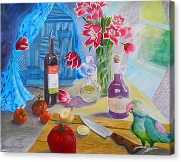 Dinner-time With Louigi Canvas Print