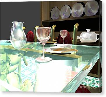 Dinning Table Canvas Print