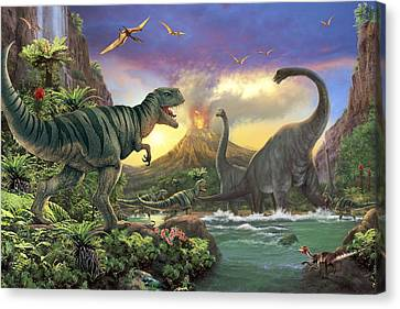 Dino Attack Variant 1 Canvas Print by Steve Read