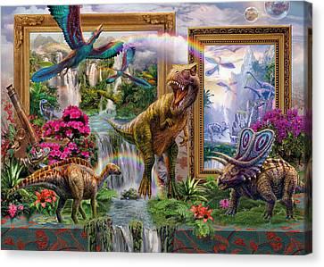 Prehistoric Canvas Print - Dinoblend by Jan Patrik Krasny