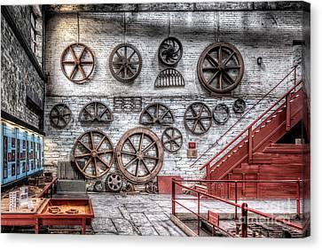 Dinorwig Quarry Workshop Canvas Print by Adrian Evans