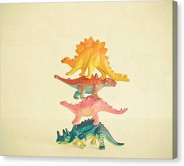 Dinosaur Antics Canvas Print by Cassia Beck