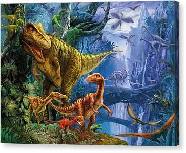 Dinosaur Valley Canvas Print by Jan Patrik Krasny