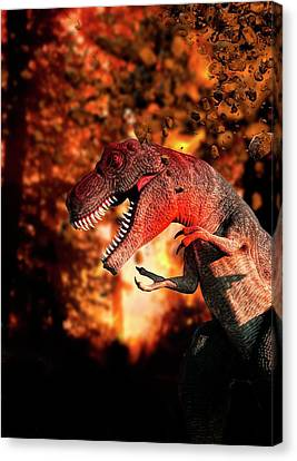 Dinosaur Canvas Print by Victor Habbick Visions