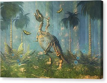 Dinosaur Warrior  Canvas Print by Carol and Mike Werner