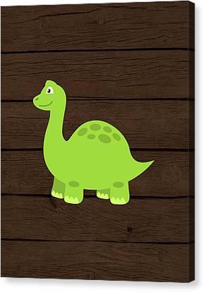 Dinosaur Canvas Print - Dinosaur Wood I by Tamara Robinson