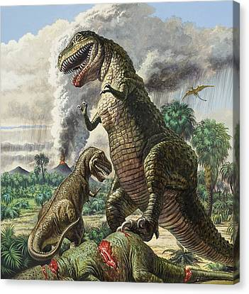 Dinosaurs Canvas Print by Harry Green