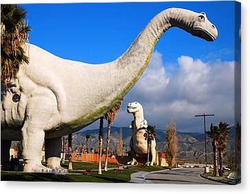 Dinosaurs Of Cabazon Canvas Print by James Kirkikis