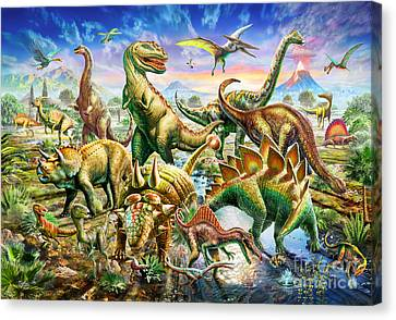 Dinoscene   Canvas Print