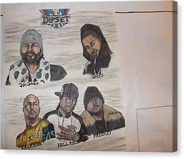 Dipset Group Canvas Print by Brandon Crawford