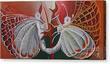 Diptych-double Canvas Canvas Print by Art Ina Pavelescu