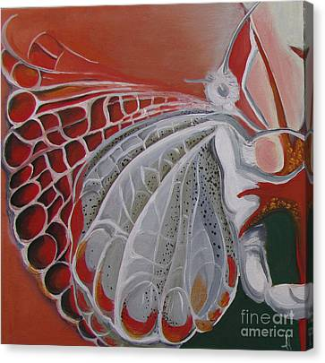 Diptych-panel1 Canvas Print by Art Ina Pavelescu