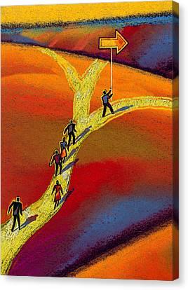 Direction Canvas Print by Leon Zernitsky