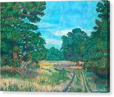 Canvas Print featuring the painting Dirt Road Near Rock Castle Gorge by Kendall Kessler