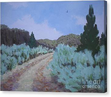 Canvas Print featuring the painting Dirt Road by Suzanne McKay