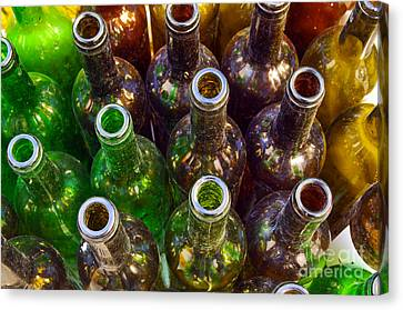Cellar Canvas Print - Dirty Bottles by Carlos Caetano