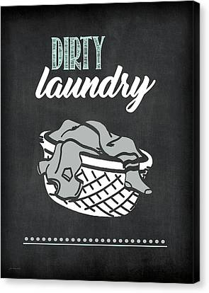 Laundry Canvas Print - Dirty Laundry by Jo Moulton
