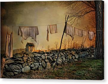 Linen On The Line Canvas Print by Robin-Lee Vieira