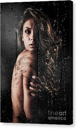 Dirty Shower Canvas Print by Jt PhotoDesign